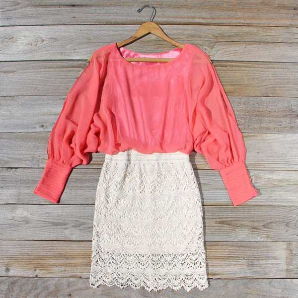 Lace and Quartz Dress in Pink: Featured Product Image