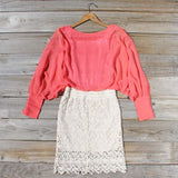 Lace and Quartz Dress in Pink: Alternate View #3