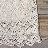 Lace and Quartz Dress in Ivory: Alternate View #4