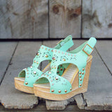 Dewmist Wedge Sandals: Alternate View #1