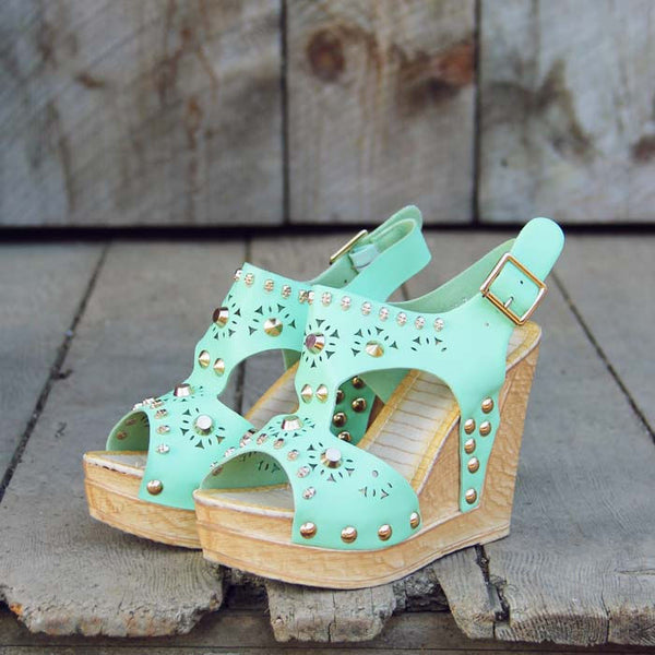 Dewmist Wedge Sandals: Featured Product Image