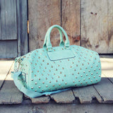 Studded Mint Duffle: Alternate View #1