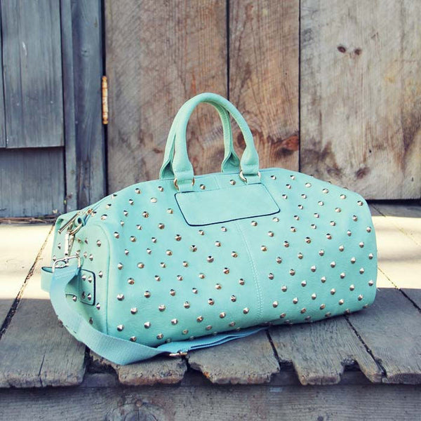 Studded Mint Duffle: Featured Product Image