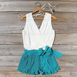 Pintucks & Chiffon Romper: Alternate View #1