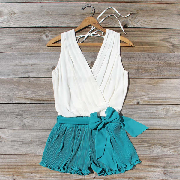 Pintucks & Chiffon Romper: Featured Product Image