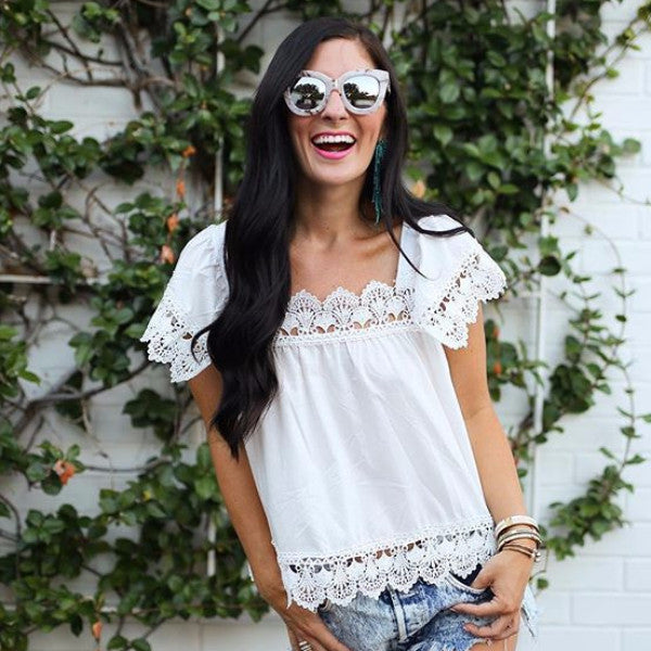 Gone Antiquing Lace Top: Featured Product Image