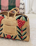 Vintage 70's Woven Tote: Alternate View #2