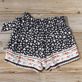 70's Charmer Shorts in Black: Alternate View #3