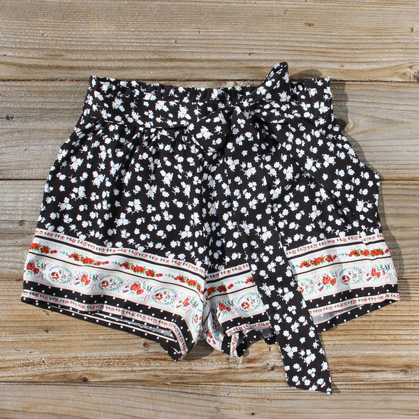 70's Charmer Shorts in Black: Featured Product Image