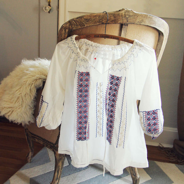70's Embroidered Blouse: Featured Product Image