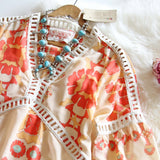 70's Siren Tunic Dress in Peach (wholesale): Alternate View #3