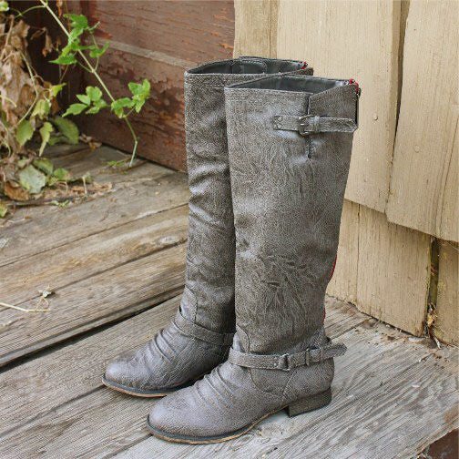 Smokestack Boots in Gray: Featured Product Image