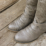 Smokestack Boots in Gray: Alternate View #4