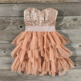 Ruffles & Rust Party Dress: Alternate View #1
