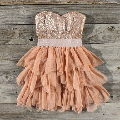 Ruffles & Rust Party Dress: Featured Product Image