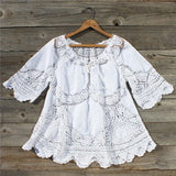 Vintage 70's Lace Embroidered Tunic: Alternate View #1