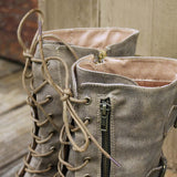 Sweet & Rugged Combat Boots: Alternate View #2