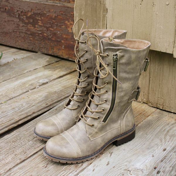 Sweet & Rugged Combat Boots: Featured Product Image