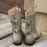 Sweet & Rugged Combat Boots: Alternate View #3