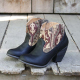 The Cooper Kilim Bootie in Black: Alternate View #1