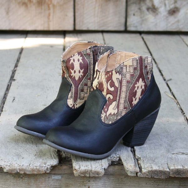 The Cooper Kilim Bootie in Black: Featured Product Image
