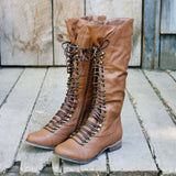 Upper County Boots in Oak: Alternate View #1