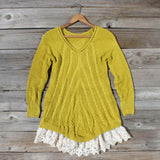 Spun Straw Lace Sweater: Alternate View #2