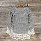 Skyline Lace Sweater in Ash: Alternate View #2