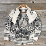 Wood Sled Sweater in Cream: Alternate View #1