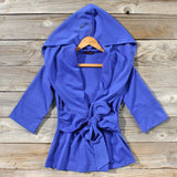 Flyaway Hoodie in Blue: Alternate View #1