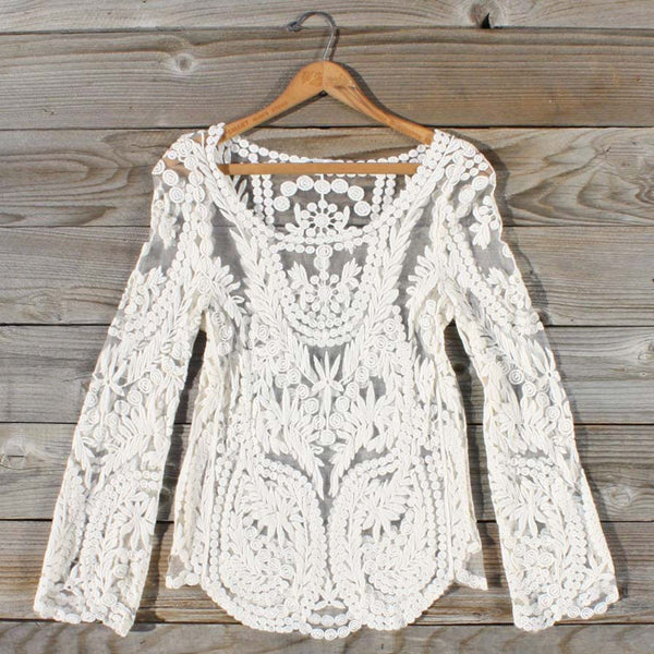 Laced in Snow Blouse: Featured Product Image