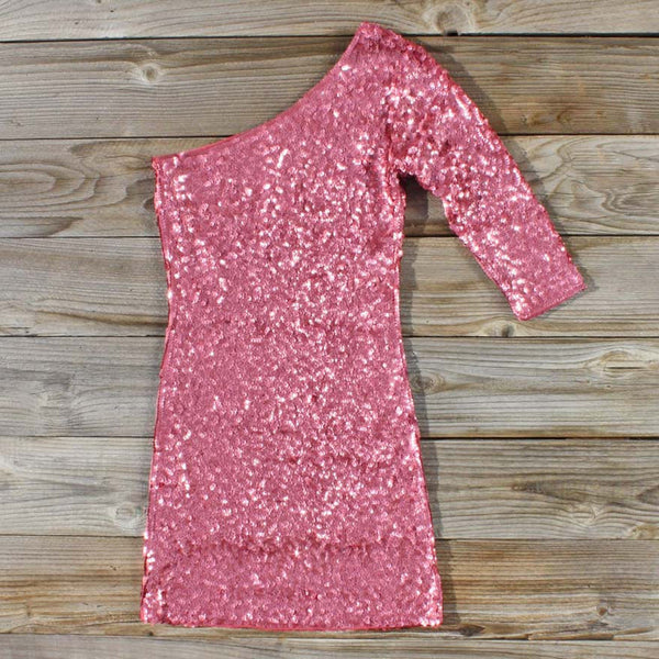 Golden Moon Party Dress in Pink: Featured Product Image