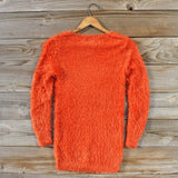 Kismet Cozy Sweater in Rust: Alternate View #3