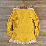 Snowbell Lace Sweater in Mustard: Alternate View #4
