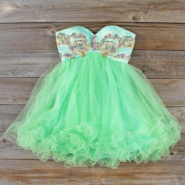 Minted Jewels Party Dress: Featured Product Image