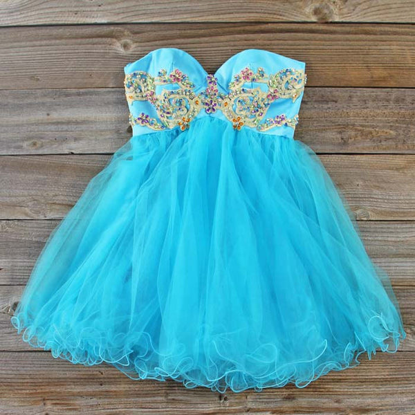Minted Jewels Party dress in Turquoise: Featured Product Image