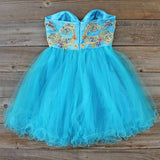 Minted Jewels Party dress in Turquoise: Alternate View #2