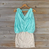 Sea Crystal Dress in Mint: Alternate View #1