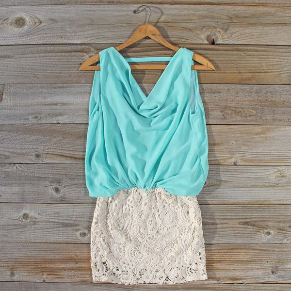 Sea Crystal Dress in Mint: Featured Product Image