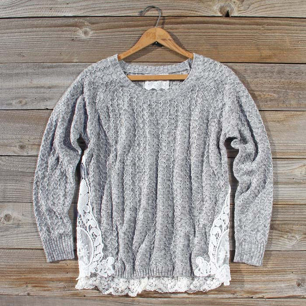 Hazy Stratus Lace Sweater: Featured Product Image