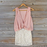Sea Crystal Dress in Blush: Alternate View #4