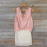 Sea Crystal Dress in Blush: Alternate View #1