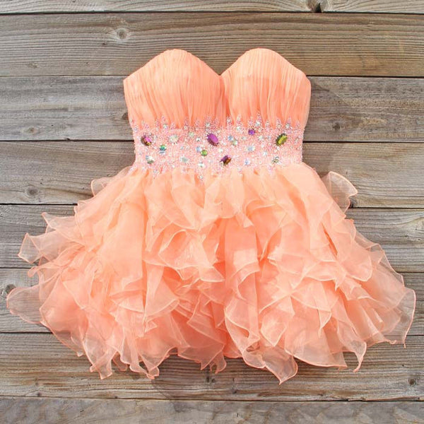 Spool Couture Peaches & Chiffon Dress: Featured Product Image