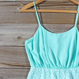 Midnight Lace Dress in Mint: Alternate View #2