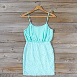 Midnight Lace Dress in Mint: Alternate View #1
