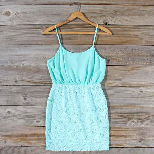 Midnight Lace Dress in Mint: Featured Product Image