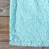 Midnight Lace Dress in Mint: Alternate View #3