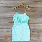 Midnight Lace Dress in Mint: Alternate View #4