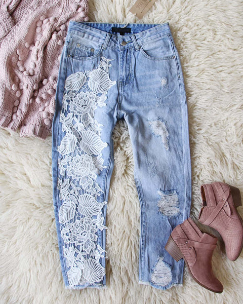 Addy Lace Jeans: Featured Product Image