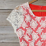 Aisle & Lace Dress in Geranium: Alternate View #2